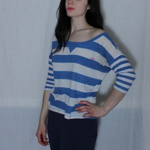Gilly Hicks Blue White Striped Tee XS